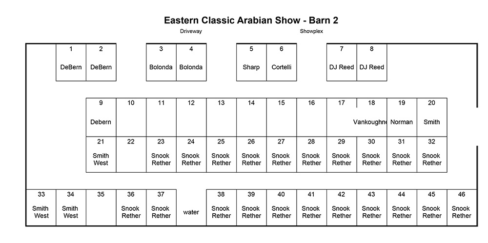 2021 Eastern Classic Stall Charts